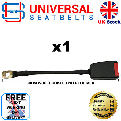 Seat Belt Wire Rope Buckles X TWO.  Approx 30 cm Long. E4. UK. VAT Inc