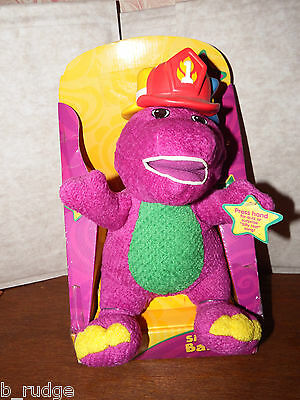 NEW talking dancing Barney Silly Hats soft plush figure toy box Fisher Price
