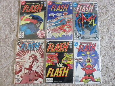 The Flash 1st series. #318,319,320,321,323,329 Very good to VF bagged/boarded