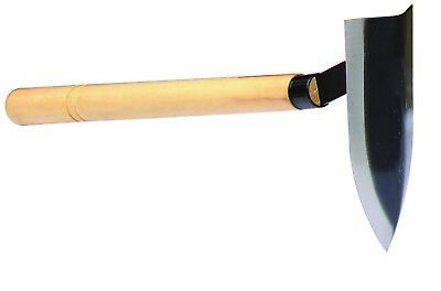 Mighty Pick ,Delta Hoe,Wooden Handle 40cm,for Scraping off & move surface weeds
