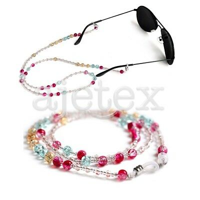 Glasses Beaded Sunglasses Spectacle Beads Strap Chain Cord Holder Neck Lanyard
