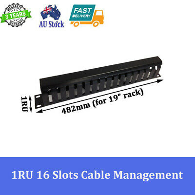 "1RU 16 Slot Cable Management for 19"" 19 inch Rack System Server Cabinet"