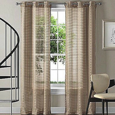 Quickfit Sheer Eyelet Curtain Panel Taupe
