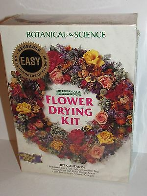 Botanical Science Microwaveable Flower Drying Kit Bnib