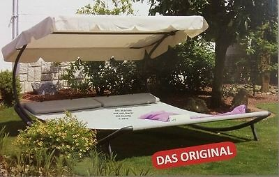 polyrattan sonnenliege gartenliege liegestuhl relaxliege lounge mit dach liege eur 246 61. Black Bedroom Furniture Sets. Home Design Ideas