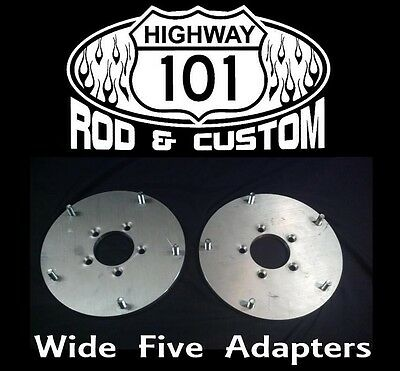 """Wide Five Wheel Adapter Aluminum For 5X4-1/2"""" Lug Pattern Axles 100% Made in USA"""