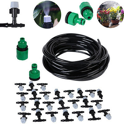 Water Misting Cooling System Sprinkler Nozzle Garden Patio Micro Irrigation Set