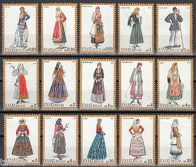 Greece- 1974 National Costumes III complete set MNH **