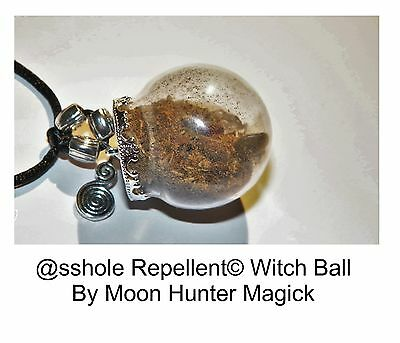 Banishing Spell @sshole Repellent Witch Ball Charm Amulet Pagan Wiccan Witch