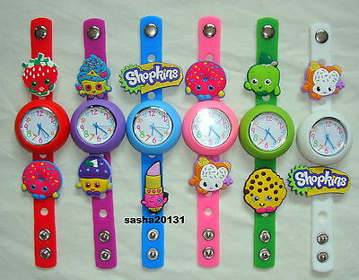 Shopkins Jibbitz Band Watch  & A Selection Of 9 Charms, New Charms Added