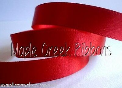 """3 yards of Red 1.5"""" Double Face Satin Ribbon 1.5"""" x 3 yards"""