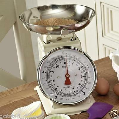 Hanson 5Kg Traditional Mechanical Kitchen Balance Cream Colour Weighing Scales