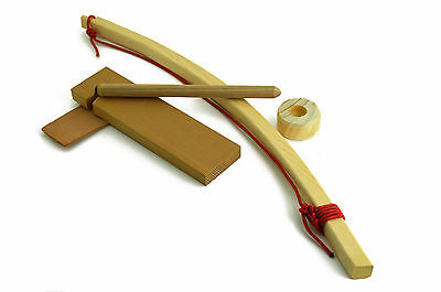 Scout Bow Drill Fire Set Basic -Primitive Fire Starter with Instructions!
