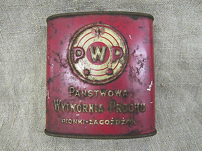 "Vintage Polish Smokeless Powder EMPTY Can ""Hawk"". Period of 1930th."