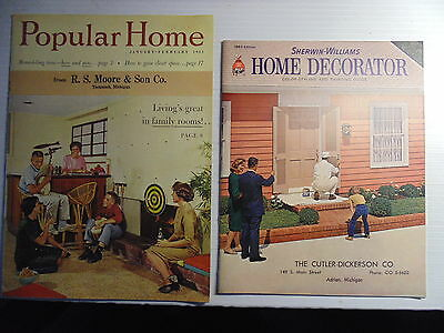 1961 Popular Home Remodeling Magazine 1963 Sherwin Williams Home Decorator