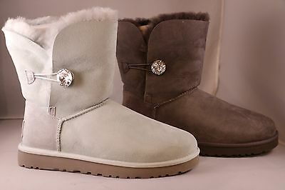 91f578062e6 UGG AUSTRALIA WOMEN'S Bailey Button Bling Boots - Grey or Ice - Size 10 and  11