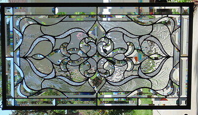 Stained Glass window hanging 32 1/2 X 18 3/8""