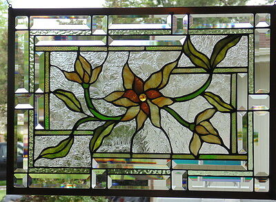 """Stained Glass window hanging 18 X 25 1/2"""""""