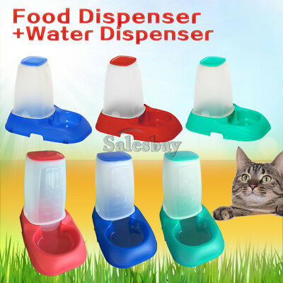 Automatic Pet Dog Cat Puppy Water / Food Feeder Fountain Bowl Dish Dispenser