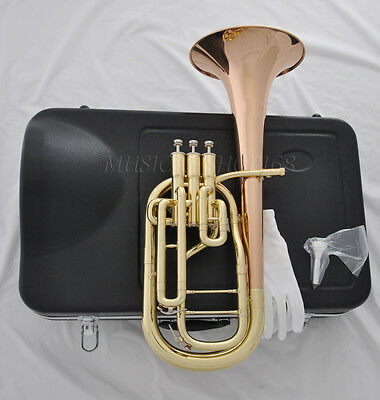 High grade rose brass bell Eb 3 piston Alto horn with case