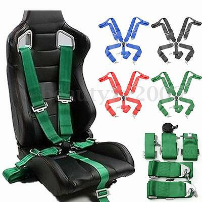 5 Point Universal Car Racing Safety Nylon Harness Camlock Strap Seat Belt New