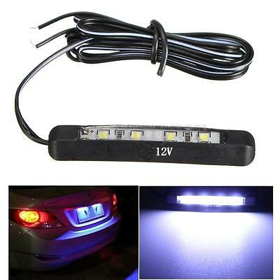 Universal Car Motorcycle Micro 4 LED Tiny Rear Number Plate Light 12V Tail Lamp