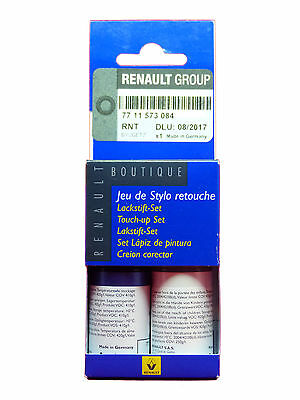Renault Dacia Touch Up Paint Stick Set Base coat Clear varnish Malta Blue RNT