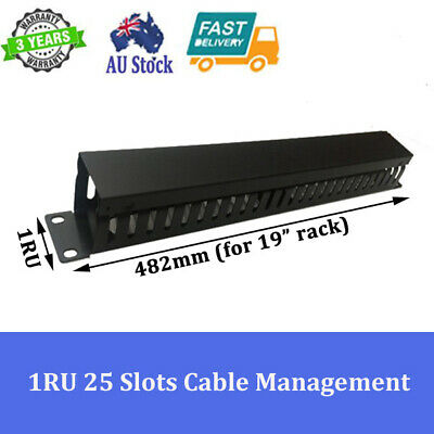 "1RU 25 Slots Cable Management for 19"" 19 inch Rack System Server Cabinet"