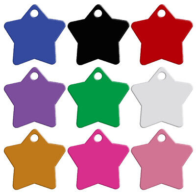 20pcs/lot Popular Star Shape Personalized Dog ID Tags for Dog Collars Aluminum