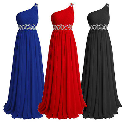 Long Dress Chiffon Bridesmaid Gown Formal Evening Party Cocktail Prom Dress 6-22