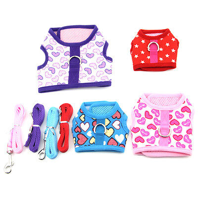 Small Dog Harness Dog Vest Mesh Soft Puppy Pet Control Strap Collar Dog Leash