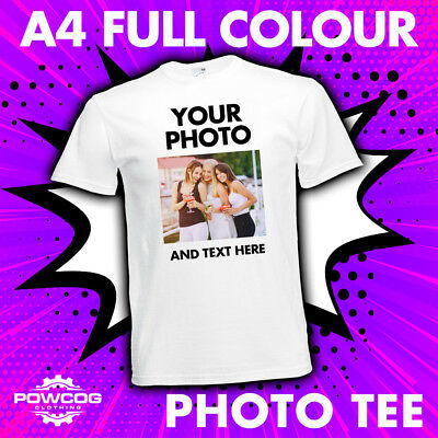 Custom Printed Photo T-Shirt Personalised Stag Hen Promotional T-Shirt