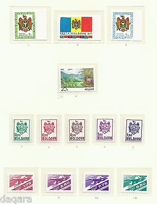 MIH.316 -Moldova stamp, 1999-2001, collection