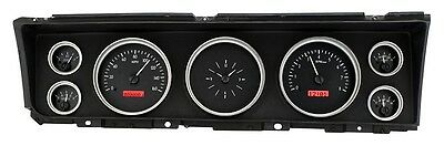 1967 Chevrolet Impala Dakota Digital Black Alloy & Red VHX Gauge Dash Kit
