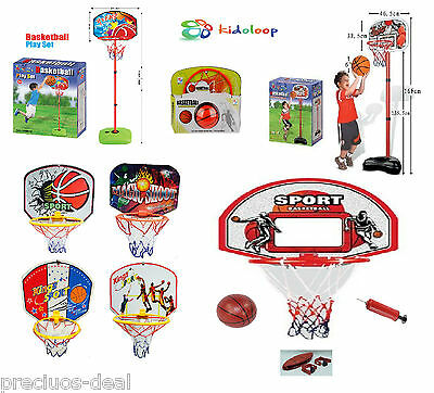 Kids Basketball Wall Board Hoop Ring Net Ball Pump Free Standing Pole Variation