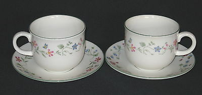 2 x Royal Doulton Expressions Florentina Oven/Tableware Tea Cups & Saucers  more