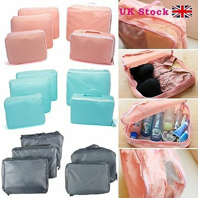 5 Pcs Clothes Underwear Socks Packing Cube Storage Travel Luggage Organizer Bag