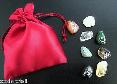 WITCHES GEMSTONE ORACLE STONES - With Satin Effect Pouch - Same Day Despatch