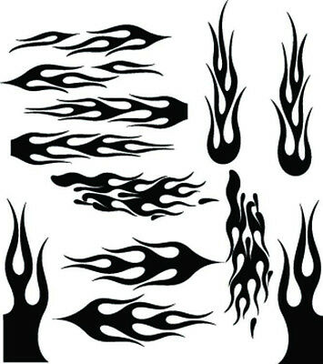 RC airbrush stencils/ paint masks flame set 3 (SINGLE USE ONLY)