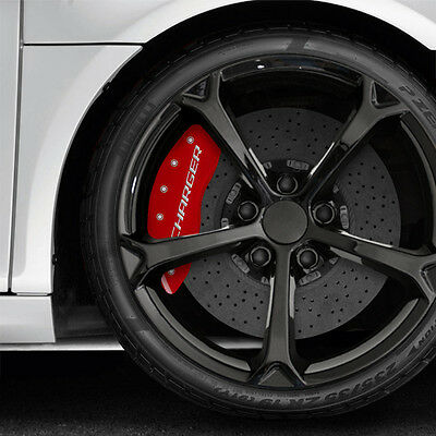 Red MGP Caliper Covers w/RT for 2006-2010 Dodge Charger R/T 5.7L V8