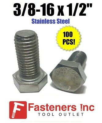 3//8-16x1-1//2 Stainless Serrated Hex Head Flange 15 Screws 3//8 x 1.5 Bolts