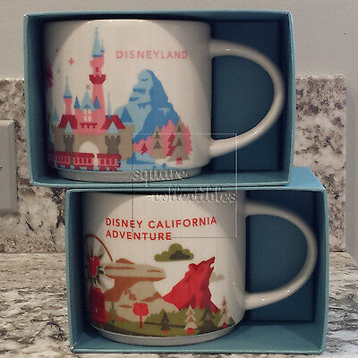 Disney & Starbucks You Are Here 14 oz Mug Set Disneyland / California Adventure