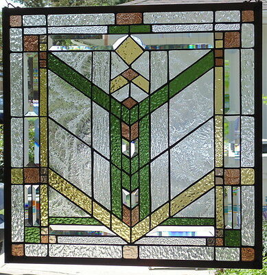 Stained Glass window hanging 24 1/2 X 24 1/2""