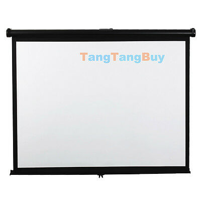 New manual bracket projection screen portable home curtain