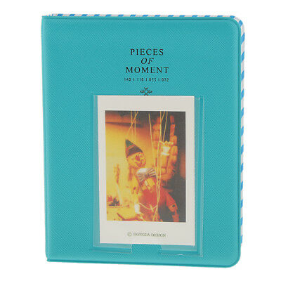 Instant Picture Photo Album Pieces Of Moment 64 Photos For Fuji Instax Blue