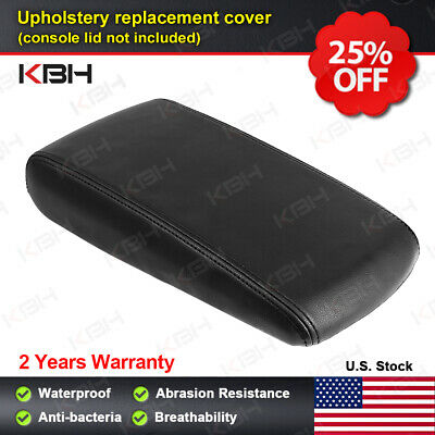 Leather Armrest Center Console Lid Cover Fits Dodge Charger 2008-2010 Black