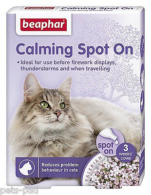 Calming Spot on for Cats, Reduces problem behaviour, Stress, Travellings, Vets