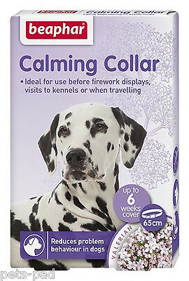 Calming Collar for Dogs, Calms, Reduces problem Behaviour, Travelling, Vets.