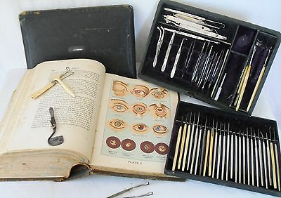 Antique late 1800s Eye Doctor OPHTHALMOLIGIST Surgery Kit Tools Weiss Medical