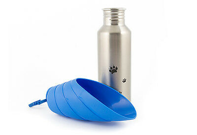 Ancol Travel Dog Water Bowl Bottle 750ml Metal